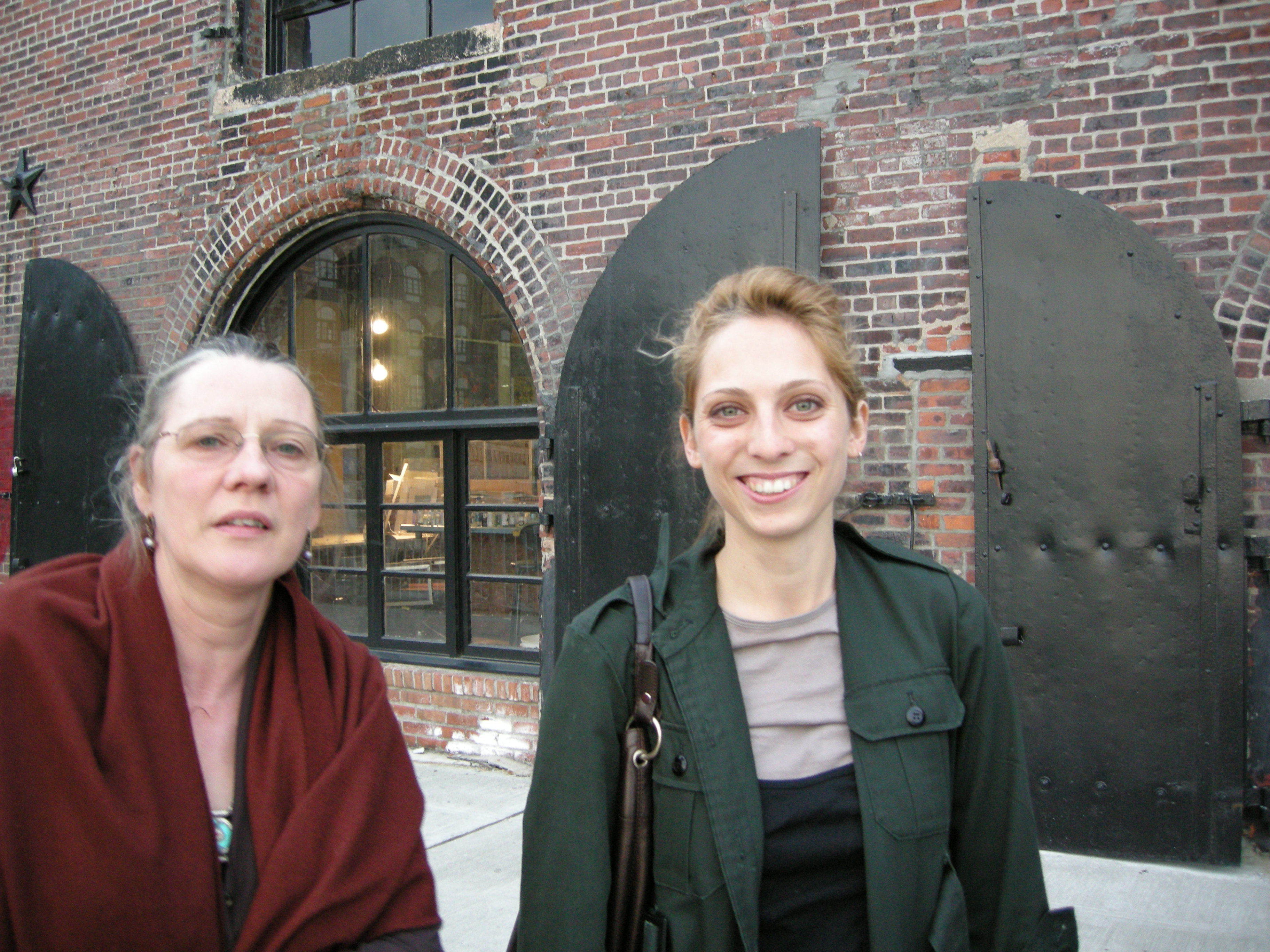 2007 - With Sara Minard, R's God-daughter. Red Hook, NYC