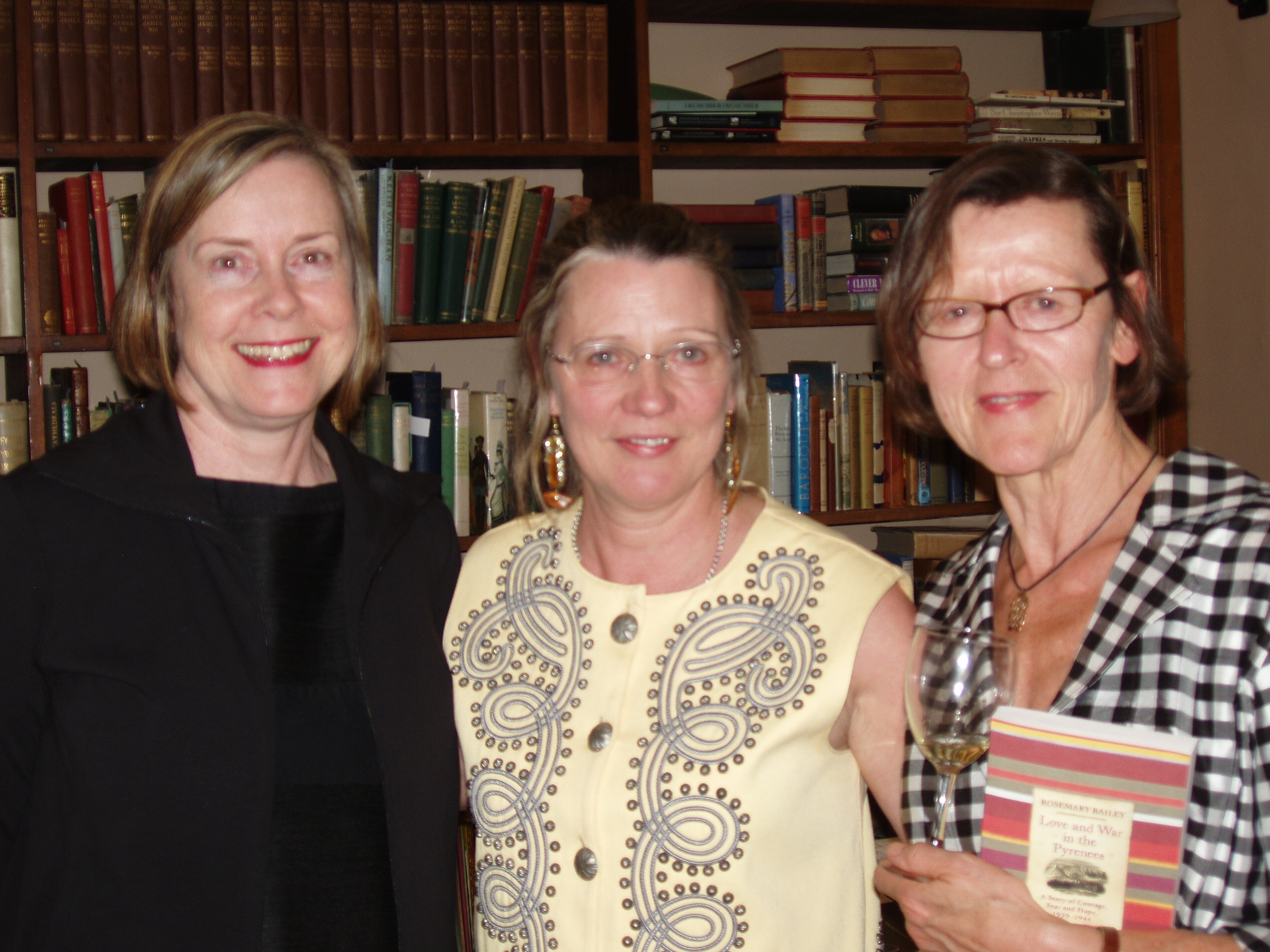 2010 - March. Launch of Love & War In the Pyrenees. With Leslie Dick and Martha Stevns at Maggs Bros