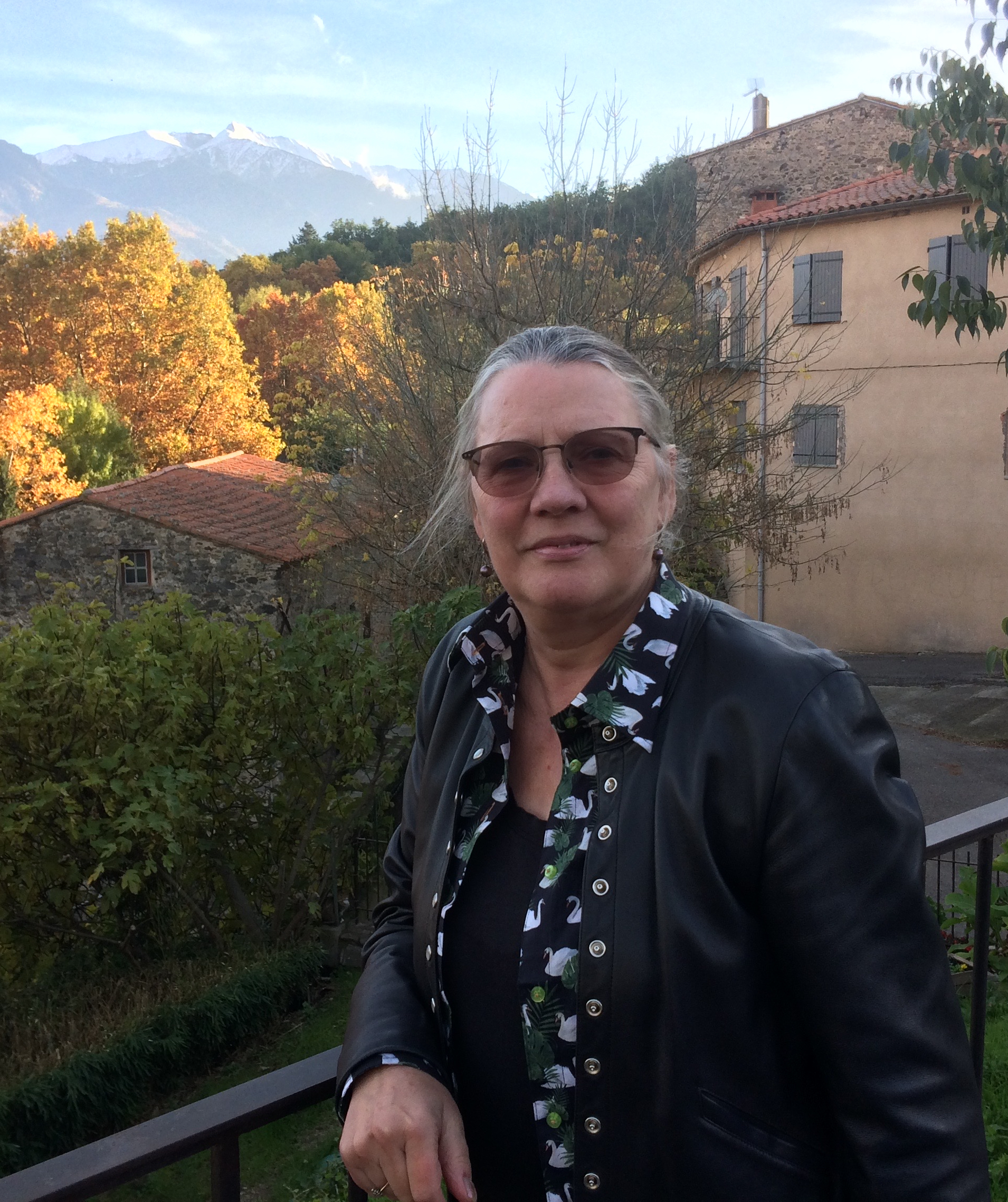 2018 - Oct 14. Catllar, France with Canigou behind