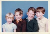 Jackie, Martin, Simon and Rosemary Bailey