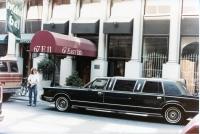 1985 - Living in NYC (limo belongs to Felix Dennis)