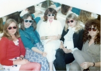1987 - Chrissie Waite, Cathy John, R, Frances Bentley, Sue Ready at Hanson Street