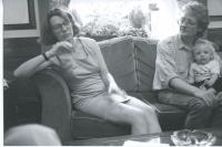 1991 - R, M & Theo visit Victor Bockris at the Langham Hotel