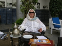 2011 - June. R at the Minza Hotel, Tangier