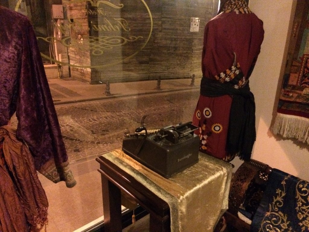 Burroughs Adding Machine in window
