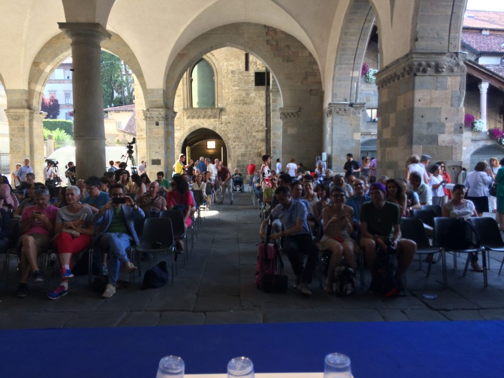 11-My audience in Bergamo getting seated-July 2
