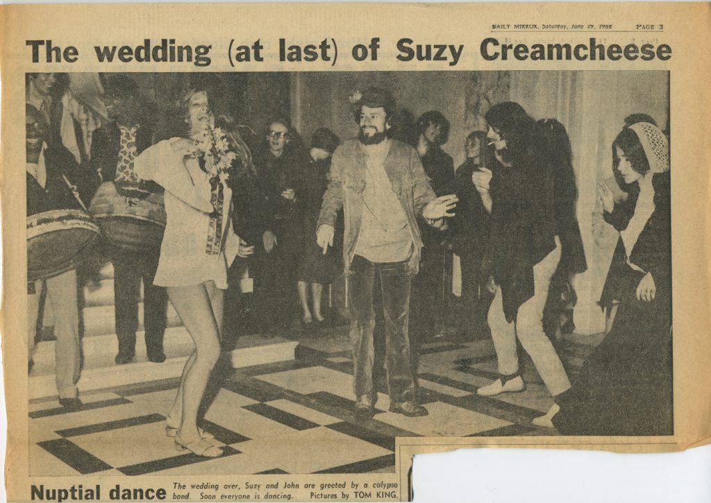 Hoppy's Wedding Daily Mirror 29 June,1968